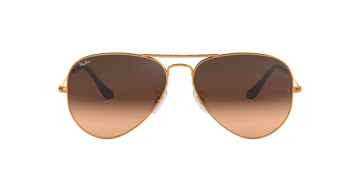 Bronze-Copper RB3025 AVIATOR GRADIENT Brown/Pink Gradient  55