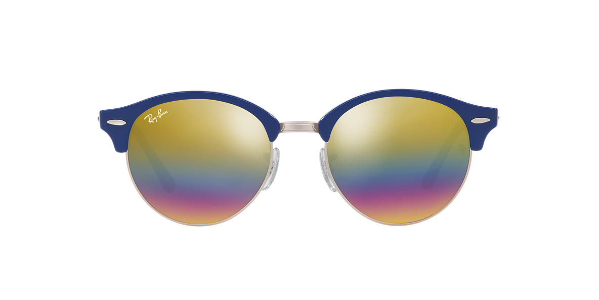 Blue RB4246 CLUBROUND MINERAL FLASH LENSES Gold Rainbow Flash  51