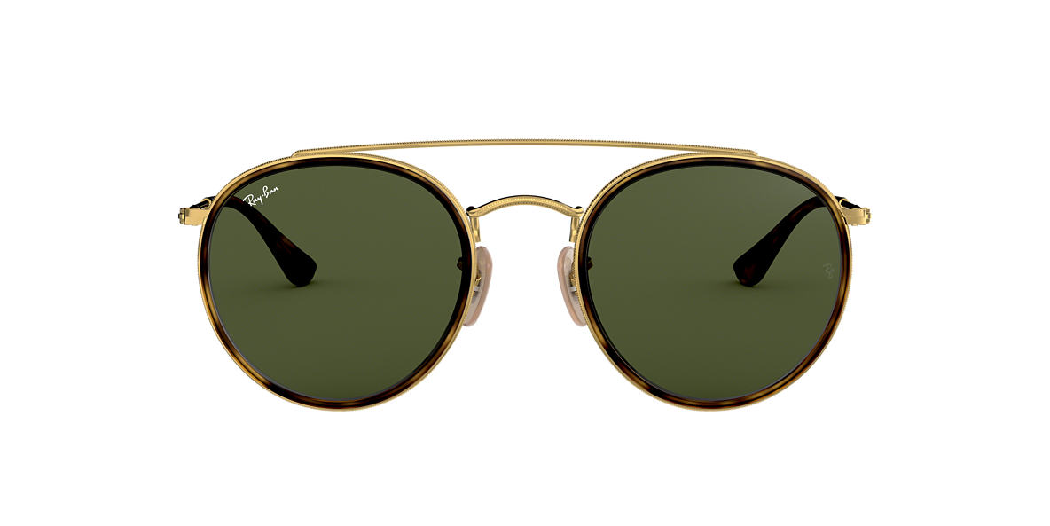 Gold RB3647N ROUND DOUBLE BRIDGE Green Classic G-15  51