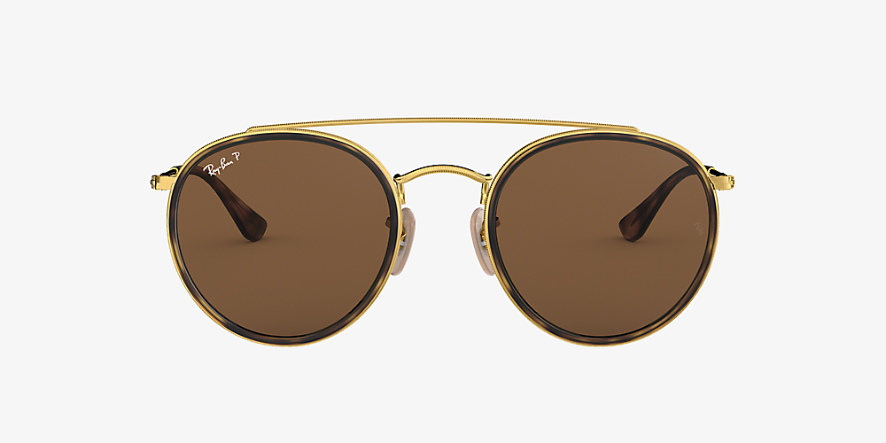 ray ban aviator gold brown polarized