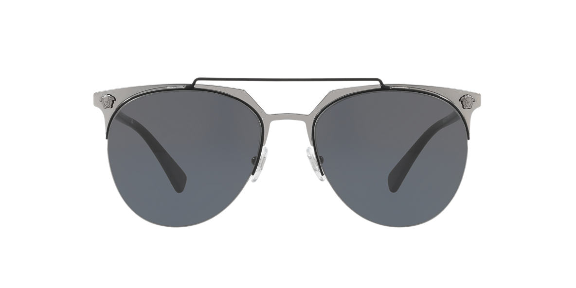 5cf27ab5f34d Versace VE2181 57 Grey-Black   Black Sunglasses