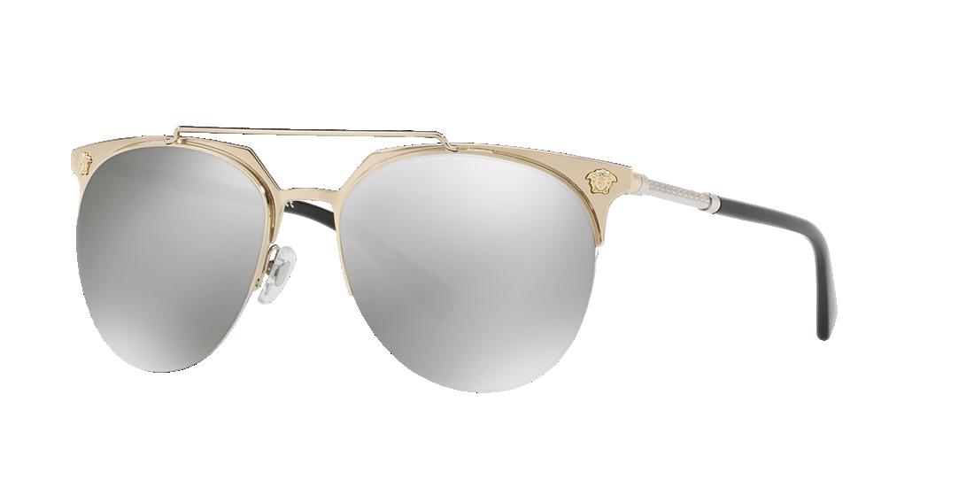 460bf8f1c8 Versace VE2181 57 Silver   Gold Sunglasses