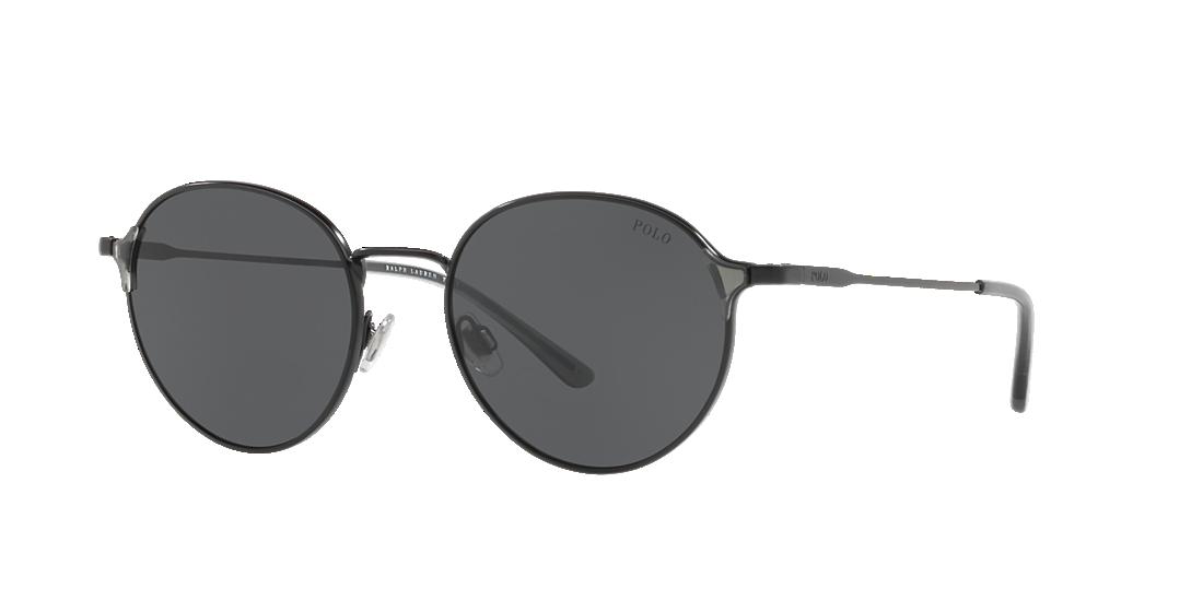 d0ce6ae96b Polo Ralph Lauren PH3109 53 Grey-Black   Black Sunglasses