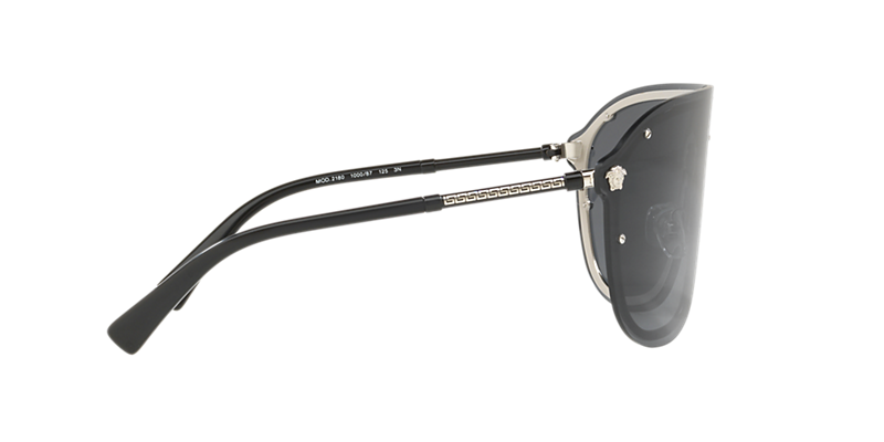 3556dfa4fd70 Versace pilot grey metal sunglasses with grey lenses. Come in a designer-stamped  case. PDP Product Image