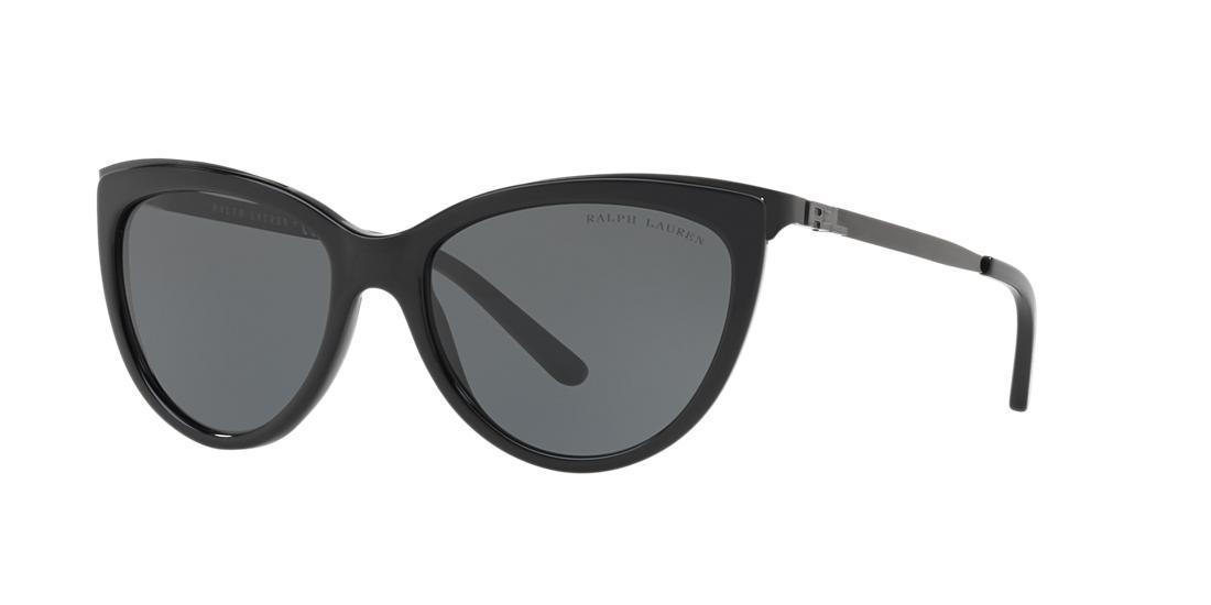Ralph Lauren 56 Black Cat-Eye Sunglasses - rl8160