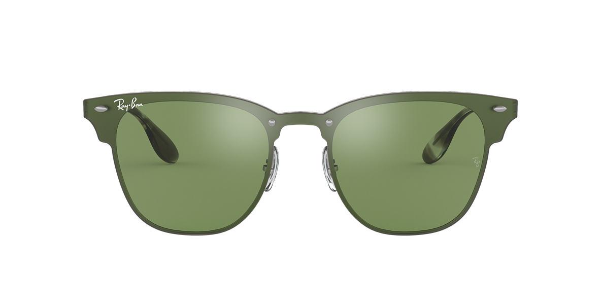 2ee826a0e01c8 Ray-Ban RB3576N BLAZE CLUBMASTER FLAT LENS 01 Dark Green Silver ...