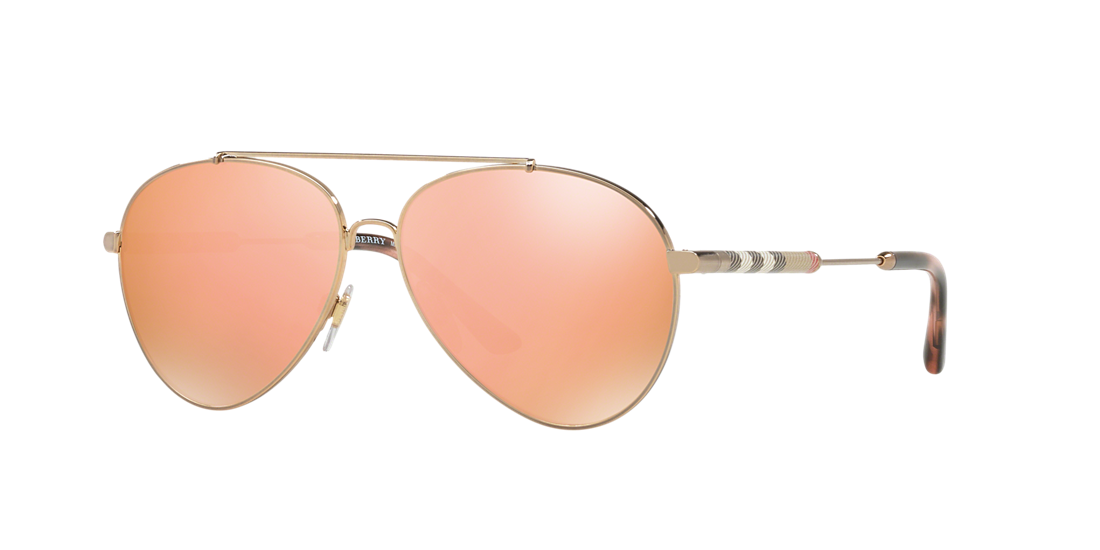 e3e8840931c Burberry BE3092Q 57 Gold   Gold Sunglasses