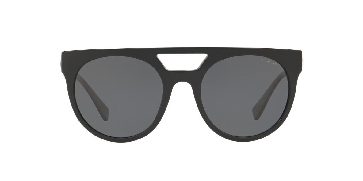 ab1134030306d Versace null 55 Grey-Black   Black Polarised Sunglasses