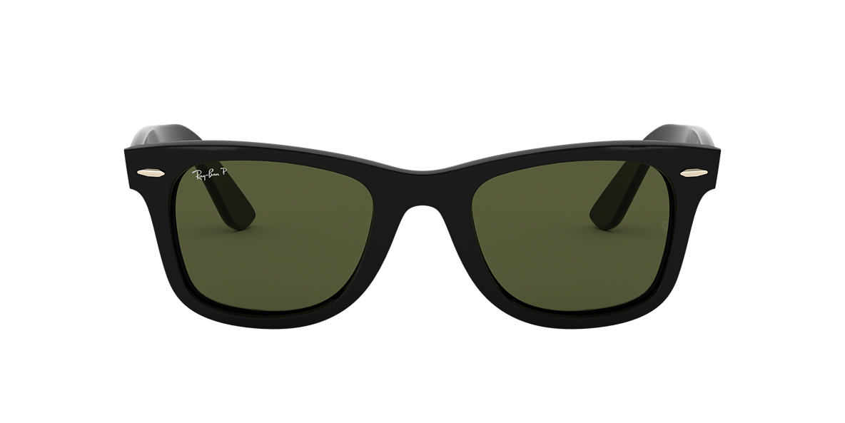 8ed8d4f334f Ray-Ban RB4340 WAYFARER EASE 50 Polarized Green Classic G-15   Black ...