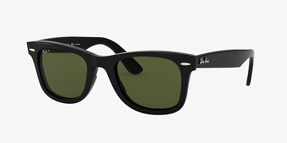 4fb295ac3 Ray-Ban RB4340 WAYFARER EASE 50 Green & Black Polarised Sunglasses ...