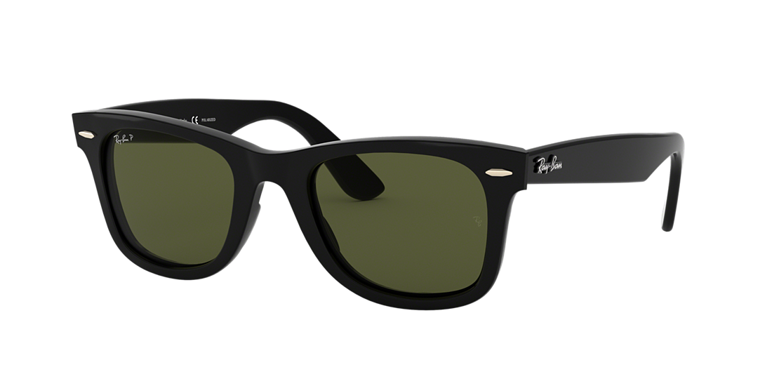 11dc56f784 Ray-Ban RB4340 WAYFARER EASE 50 Polarized Green Classic G-15   Black ...