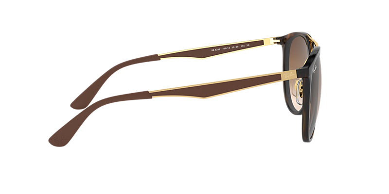 139890956f Ray-Ban RB4285 55 Brown Gradient   Tortoise Sunglasses