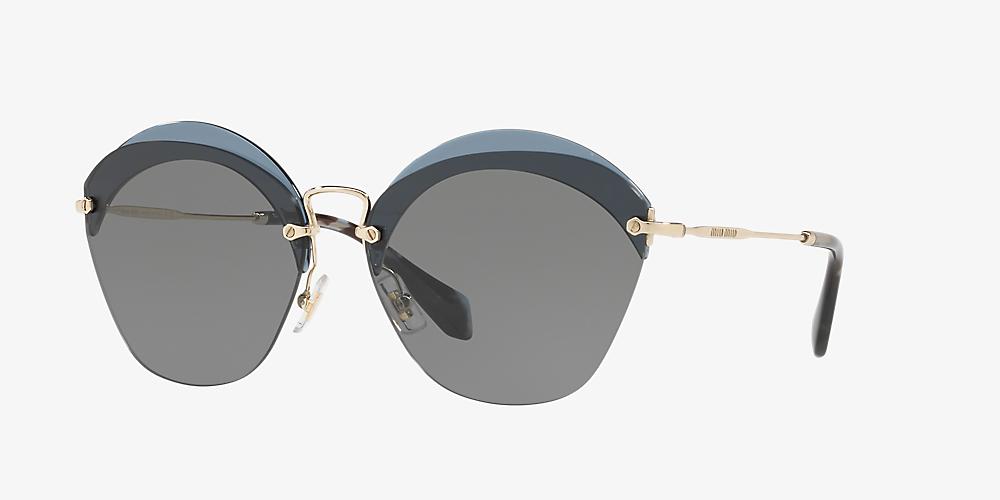 330fd13c2e75 Miu Miu MU 53SS 62 Grey-Black & Blue Sunglasses | Sunglass Hut ...
