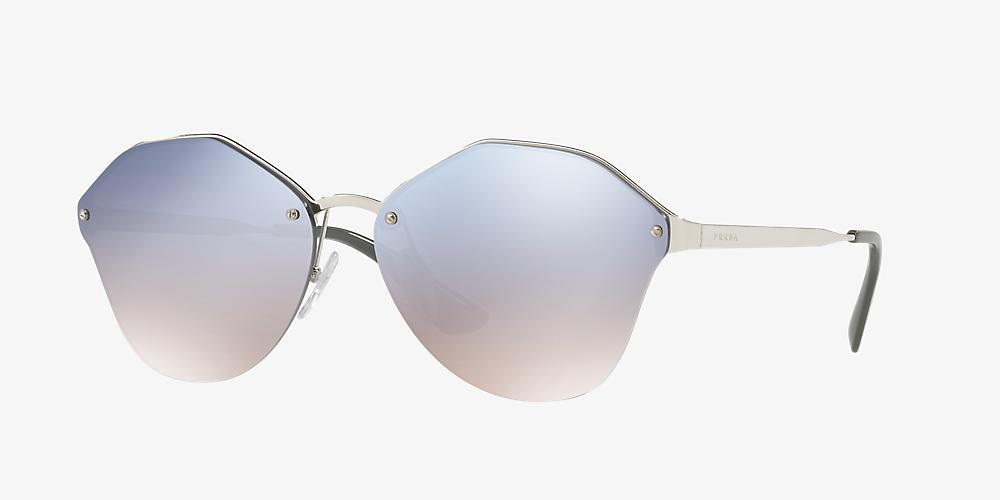 1aa2d2586 Prada PR 64TS 66 Silver & Silver Sunglasses | Sunglass Hut United ...