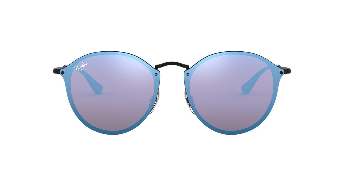 Ray Ban Rb3574n Blaze Round 59 Blue Violet Gradient Mirror