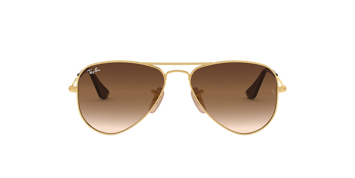 Gold RJ9506S AVIATOR JUNIOR Brown Gradient  50