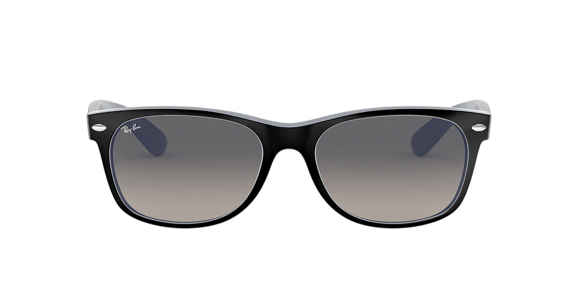 Black RB2132 NEW WAYFARER COLOR MIX Grey-Black  58