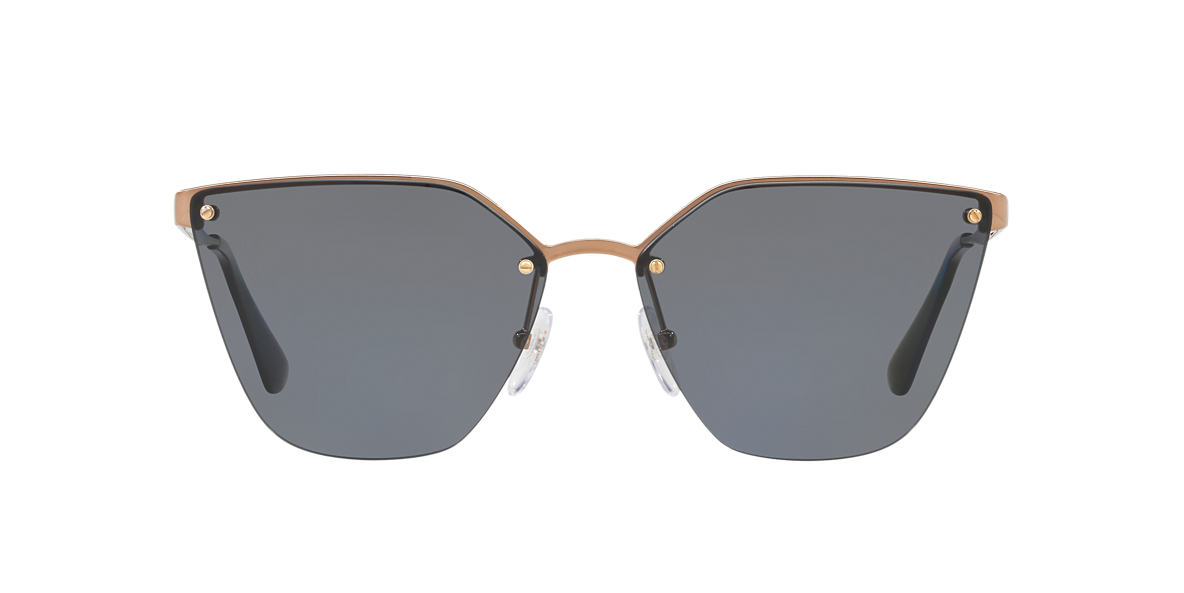 8d8722345d812 Prada PR 68TS 63 Grey-Black   Gold Polarised Sunglasses