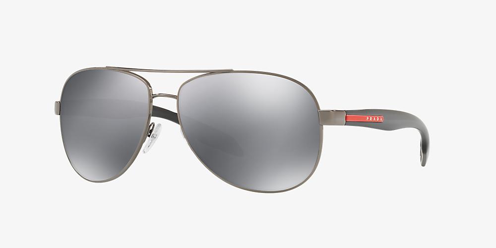 2a800cc0ff55 Prada Linea Rossa PS53PS 62 Silver & Gunmetal Sunglasses | Sunglass ...