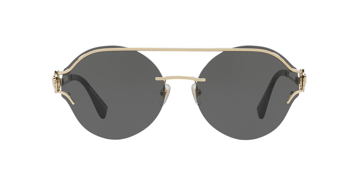 bbd19084c68e Versace VE2184 61 Grey-Black   Gold Sunglasses