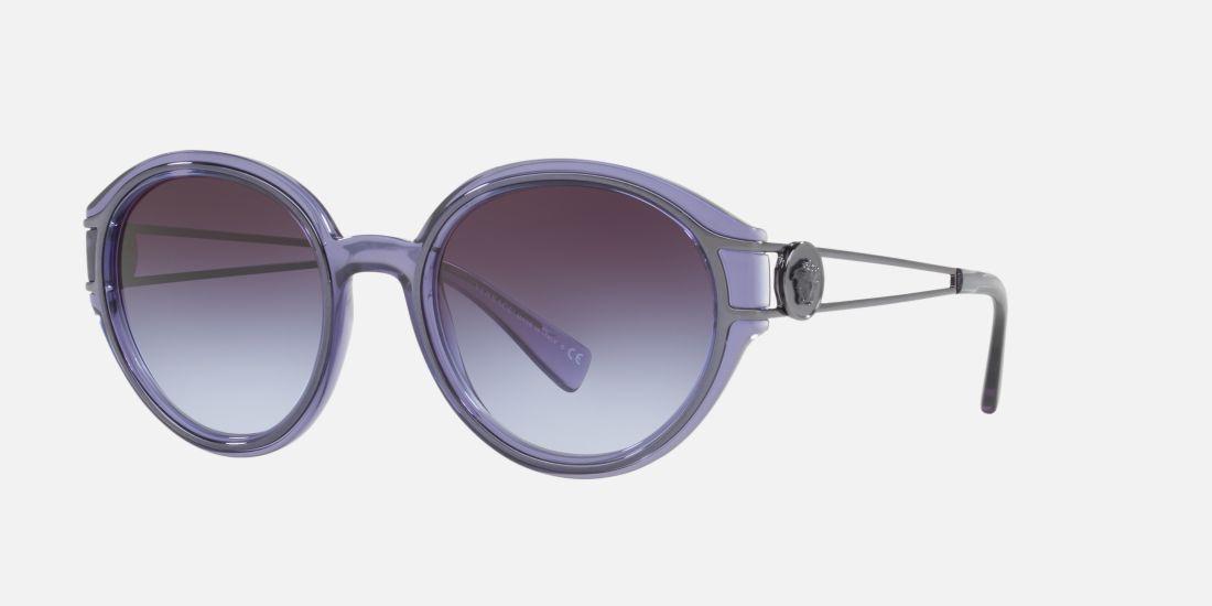 57f1684109fa5d Versace VE4342 53 53 Gris   Violet Lunettes de soleil   Sunglass Hut ...