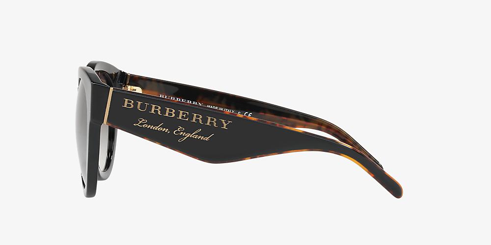 fe3a9c92f Burberry BE4260 54 Grey-Black & Black Sunglasses | Sunglass Hut ...