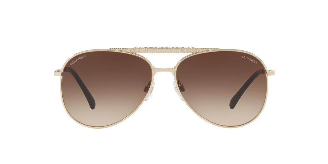 66751eb265 Chanel CH4231 59 Brown   Gold Sunglasses