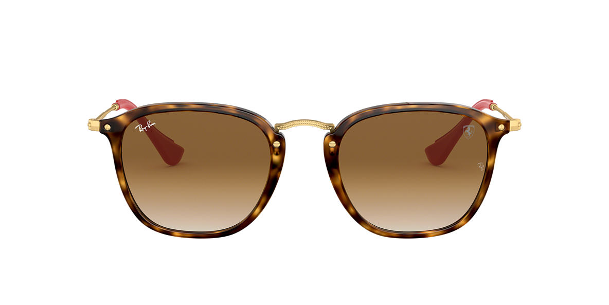 3a66a29d008d5 Ray-Ban RB2448NM SCUDERIA FERRARI 51 Light Brown Gradient   Tortoise ...