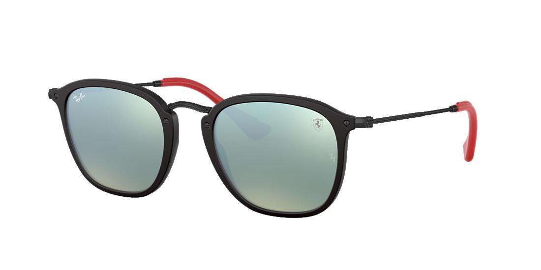9e373ddd42 Ray-Ban RB2448NM SCUDERIA FERRARI 51 Silver Flash   Black Sunglasses ...