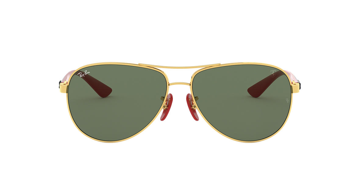baa1f0b95eb1a RAY-BAN Gold RB8313M RB8313M SCUDERIA FERRARI COLLECTION Green lenses 61mm