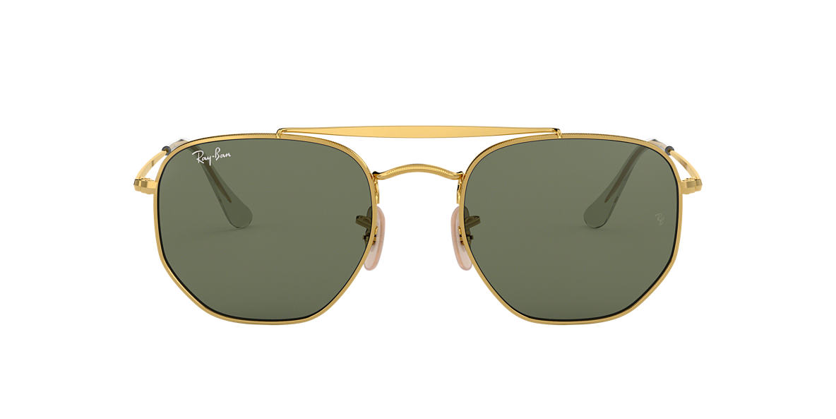 4143c18e051f5 Ray-Ban RB3648 54 Green Classic G-15   Gold Sunglasses