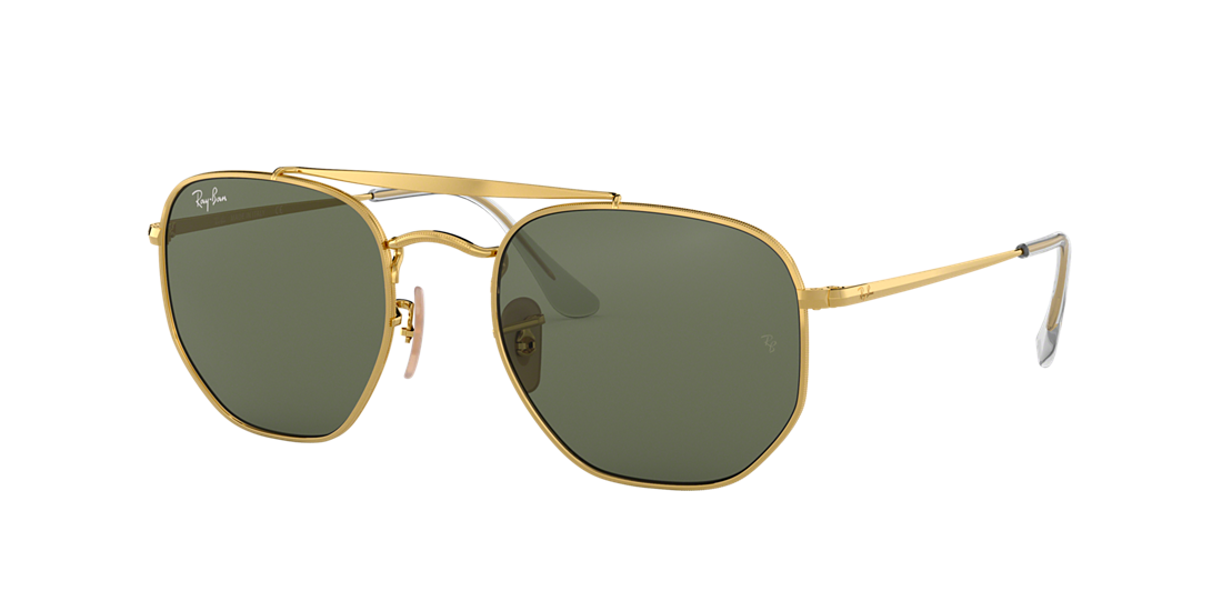 f2f3d05aa2 Frame  gold. Lenses  green classic g-15. PDP Product Image