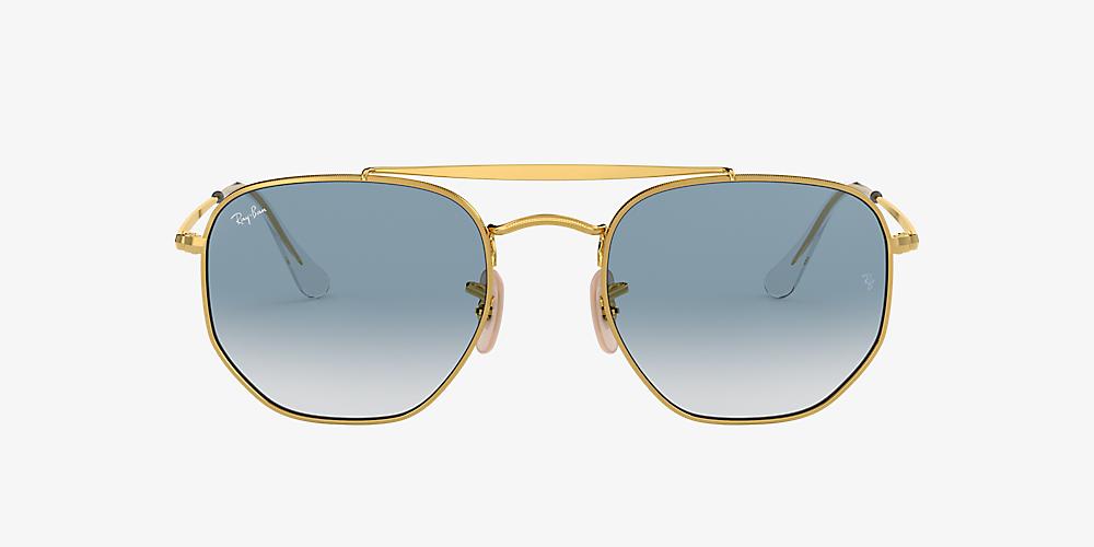 Ray Ban Sonnenbrille Marshall II Hellblau Gold