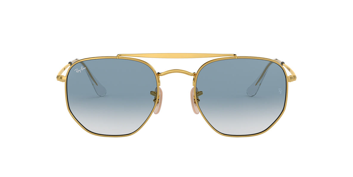1891e74119143 Ray-Ban RB3648 54 Light Blue Gradient   Gold Sunglasses