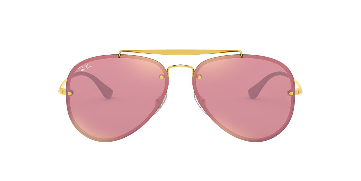 Gold RB3584N BLAZE AVIATOR Pink  61