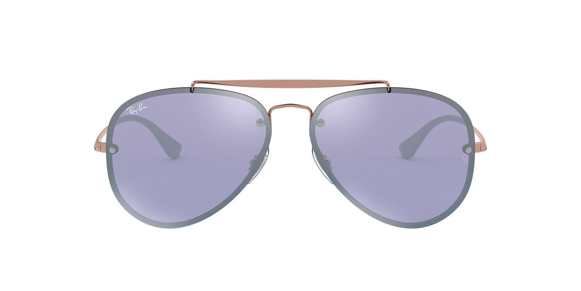 Bronze-Copper RB3584N BLAZE AVIATOR Violet  61