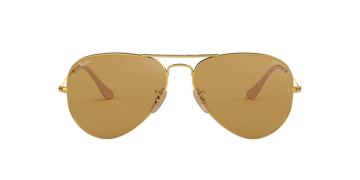 Gold RB3025 AVIATOR EVOLVE Brown  58
