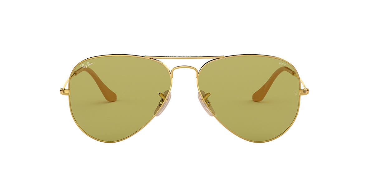 Gold RB3025 AVIATOR EVOLVE Green  58