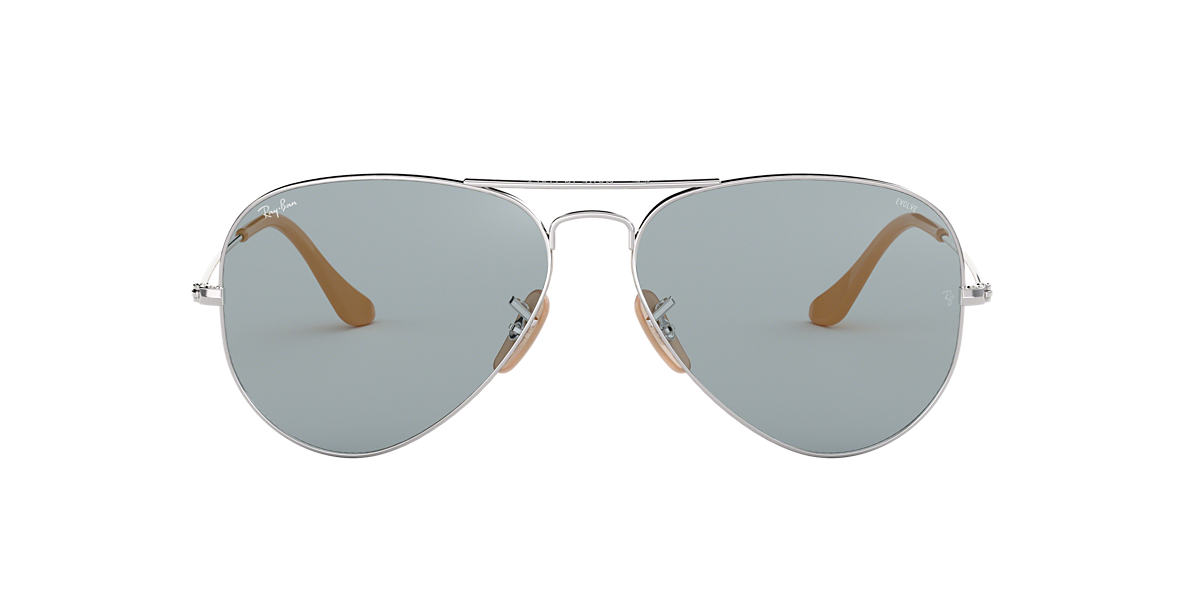 Silver RB3025 AVIATOR EVOLVE Blue  58
