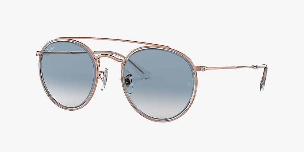 2381ea96d Ray-Ban RB3647N ROUND DOUBLE BRIDGE 51 Blue & Transparent Sunglasses ...