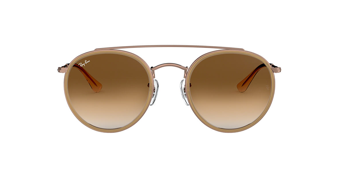 cd4fa6c87e3af Ray-Ban RB3647N 51 Light Brown Gradient   Light Brown Sunglasses ...