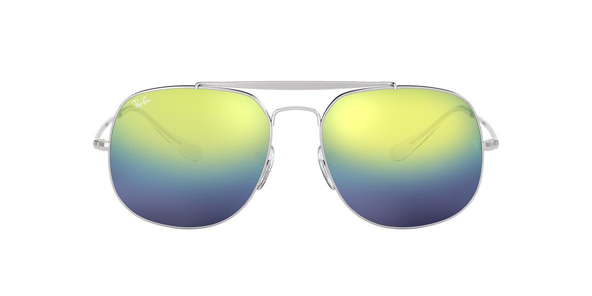 5c224fe7651 Ray-Ban RB3561 57 Blue Green Gradient Mirror   Silver Sunglasses ...