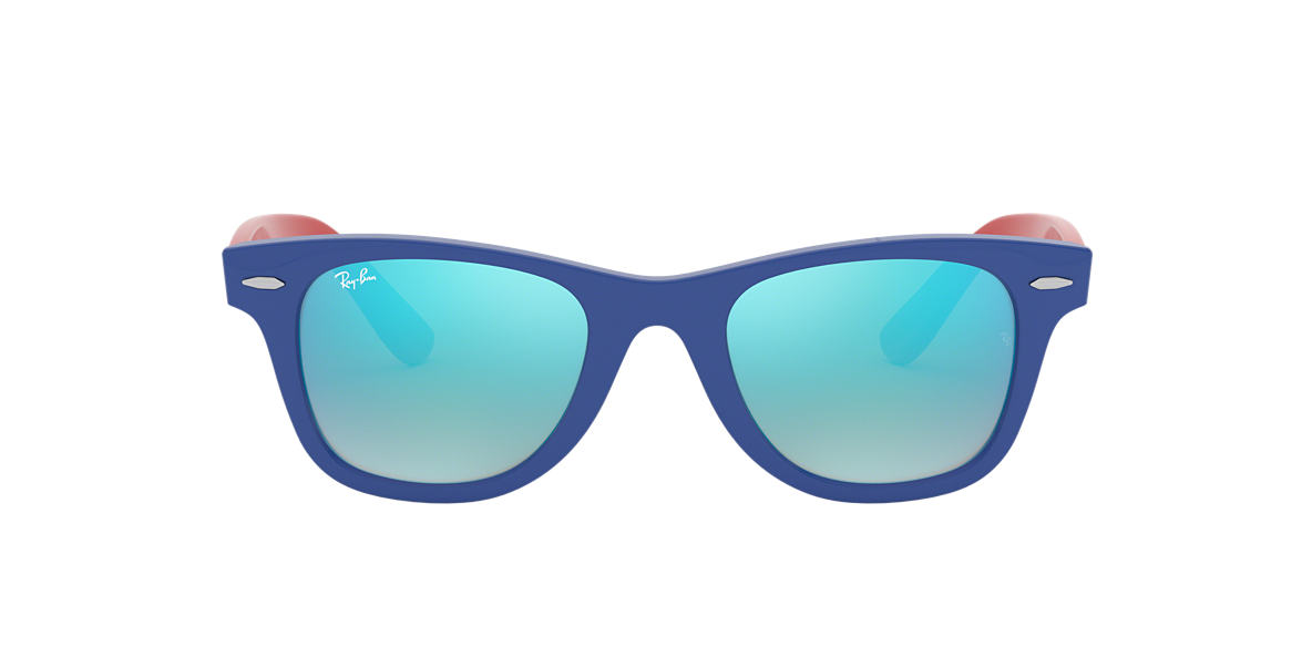 Blue RJ9066S WAYFARER JUNIOR Blue Gradient Flash  47