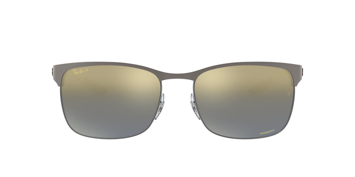 a3c50dd7b2db8 RAY-BAN Gunmetal RB8319CH Blue Brown Mirror Gradient Chromance Polarized  polarised lenses 60mm