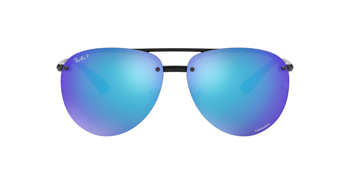 245dbec025b19 RAY-BAN Black RB4293CH Blue Mirror Chromance Polarized polarized lenses 65mm