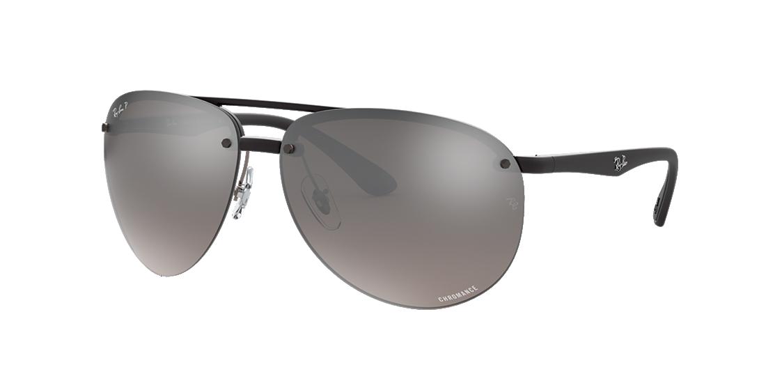 459ff3b9140 Frame  black. Lenses  silver mirror chromance polarized. PDP Product Image