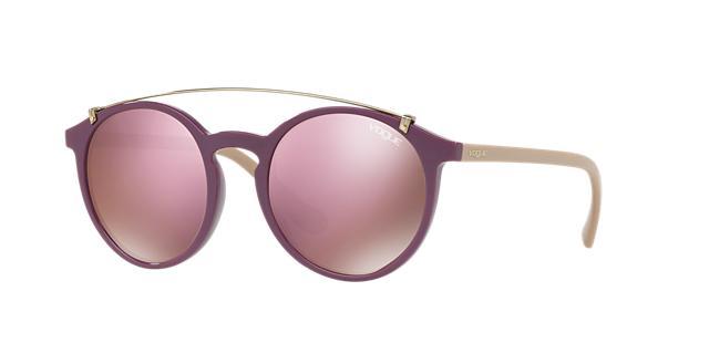 VOGUE Eyewear Sunglasses, Vo5161S 51 in Violet/ Dark Brown Mirror Pink