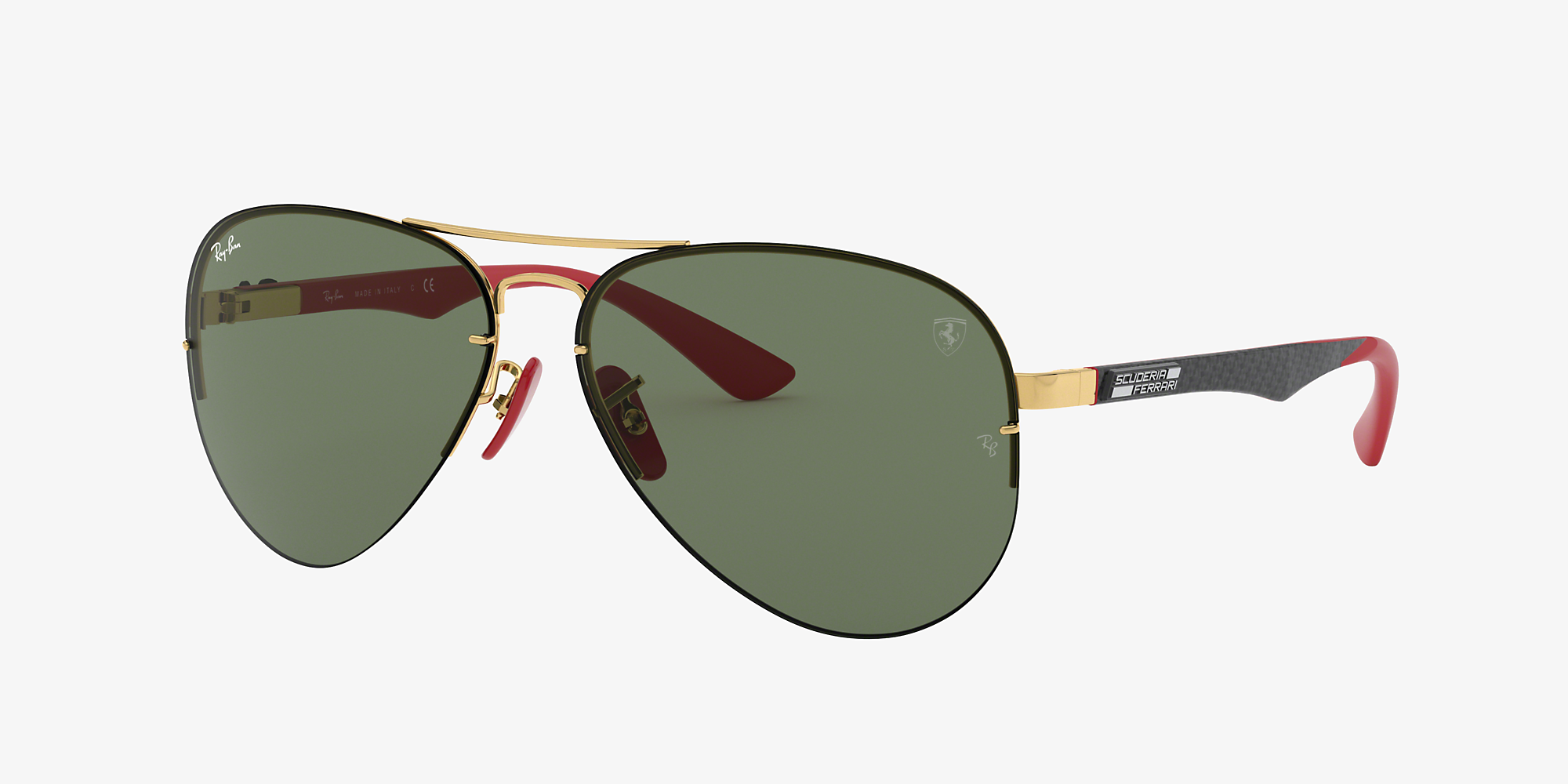 92b3c780c Ray-Ban RB3460M RB3460M SCUDERIA FERRARI COLLECTION Gold/Green image 1 ...