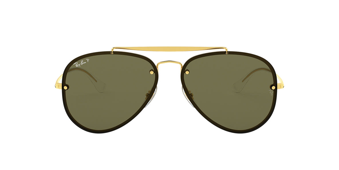 Gold RB3584N BLAZE AVIATOR Green  58