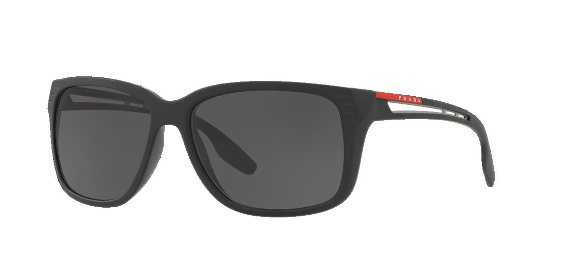 a287b9ea347b Prada Linea Rossa PS03TS 59 Grey-Black   Black Sunglasses